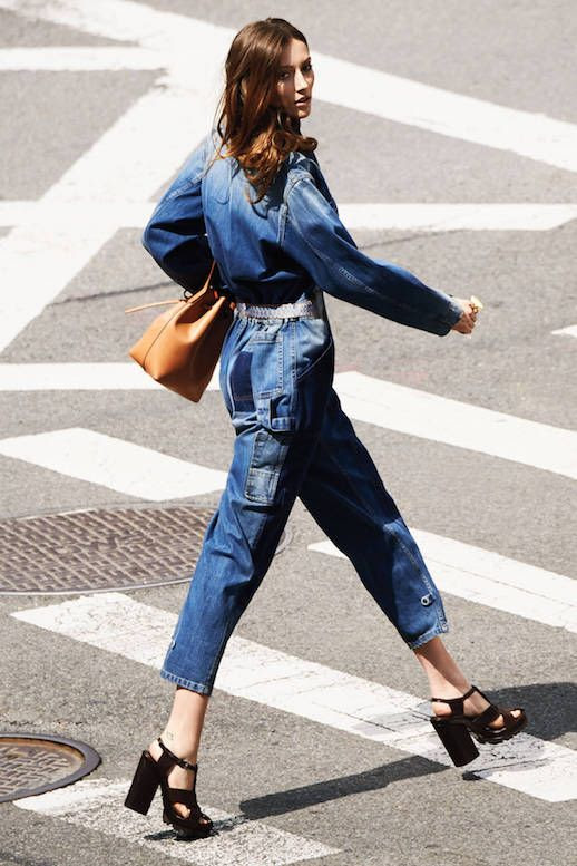 Le Fashion Blog 8 Denim Piece To Covet Now Denim Jumpsuit Via Harpers Bazaar