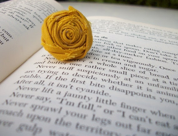 Mustard Yellow Rosette Ring