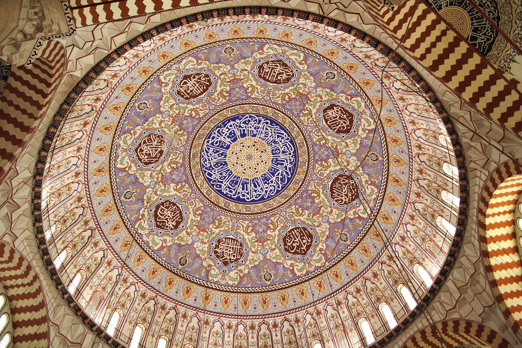Selimiye Mosque dome in Edirne, Turkey