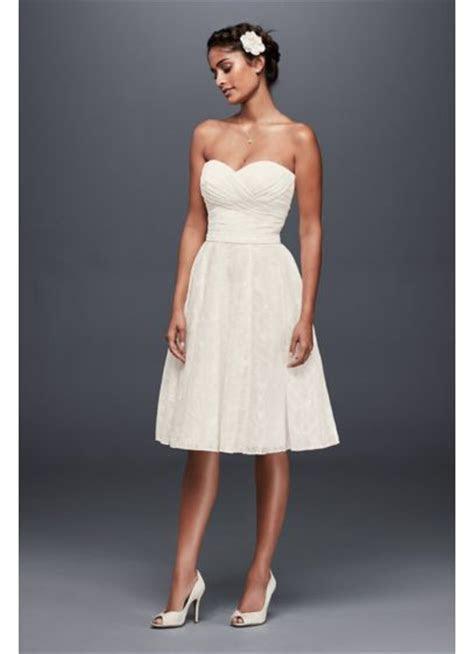 Strapless Lace Short Wedding Dress   David's Bridal