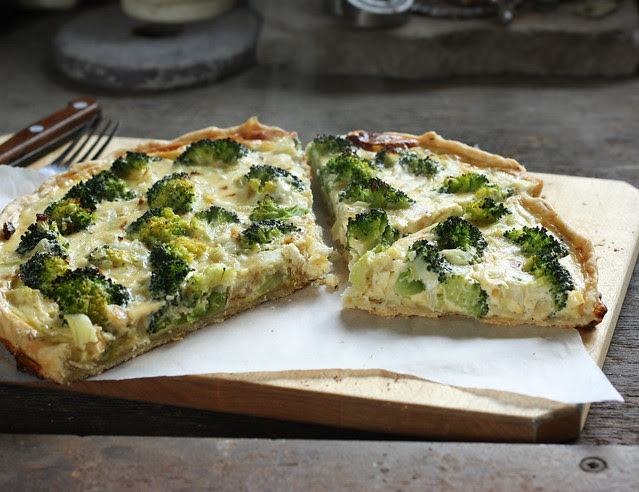 broccoli and feta cheese tart