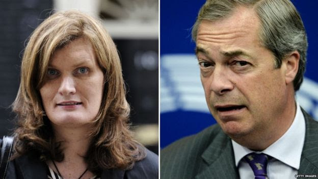 Nikki Sinclaire, Nigel Farage