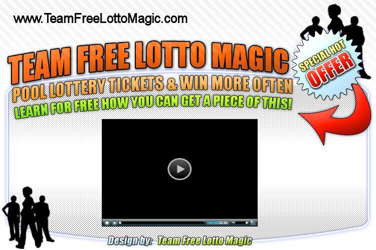 Lotto Magic Team marketing mini-site screenshot