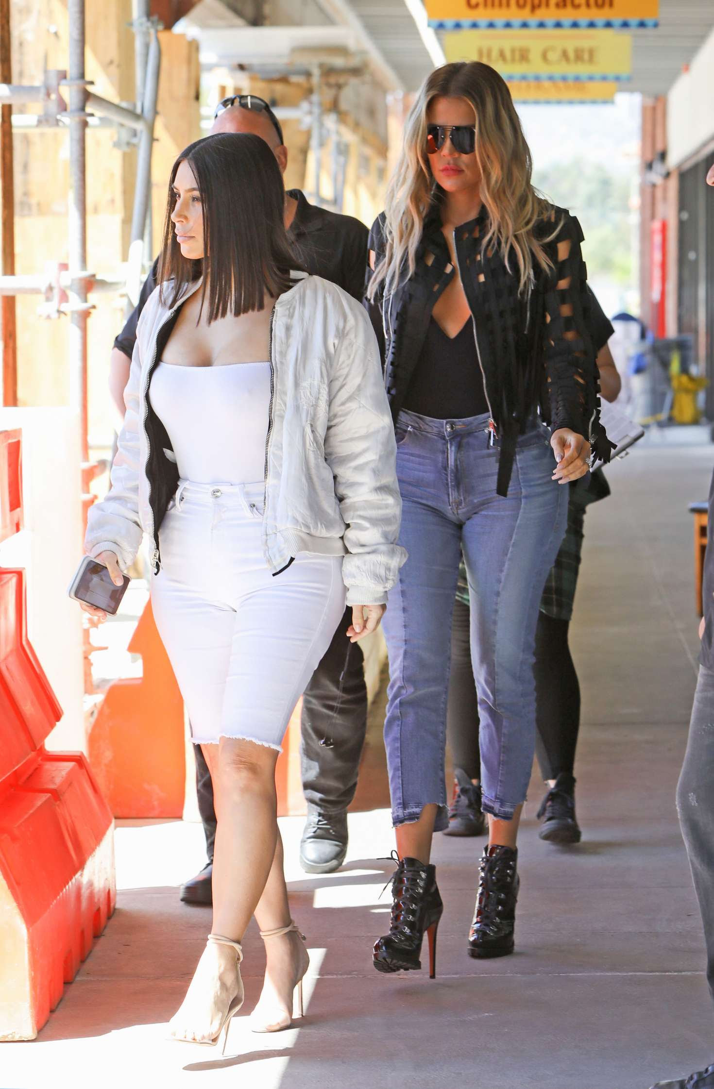 Kim and Khloe Kardashian out for a lunch in LA