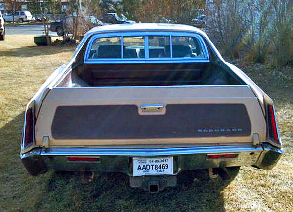 1970 Cadillac Eldorado customized pickup rear view ...