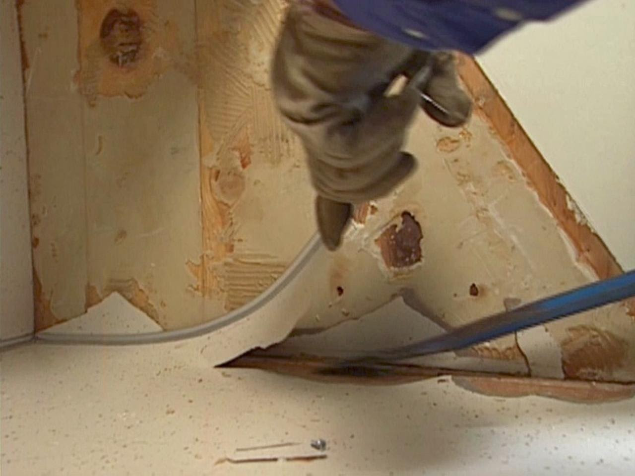 How to Remove an Old Kitchen Counter and Sink | how-tos | DIY