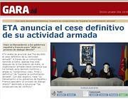 La schermata sul quotidiano basco