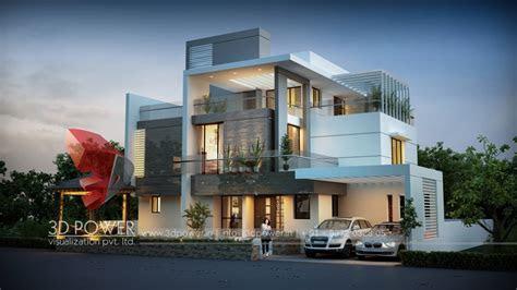 architectural villa rendering home design simple