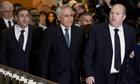 Moshe Katsav arrives at court