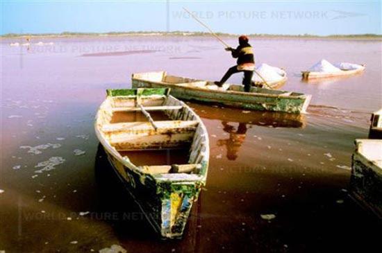 Ροζ λίμνη στη Σενεγάλη (9)
