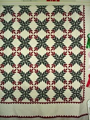 crossed laurels hand quilted