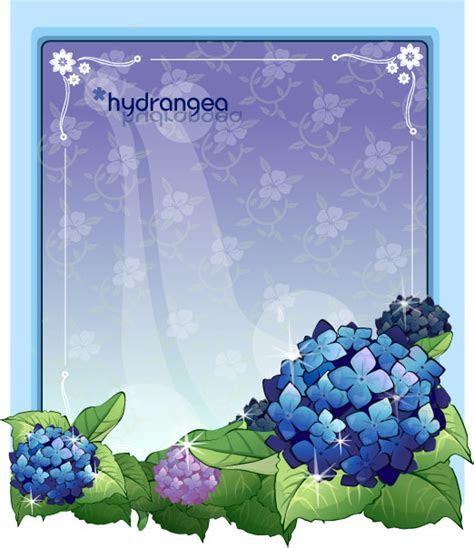 Hydrangea flower frame vector   Free download