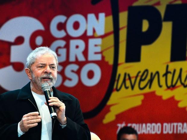 Lula participa do terceiro Congresso Nacional da Juventude do PT (Foto: Antonio Cruz/ABR)