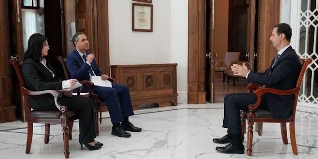 President al-Assad's interview given to al-Sourya and al-Ikhbarya TVs