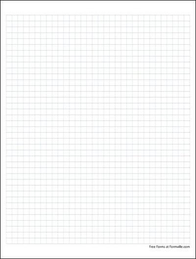 Free Graph Paper (4 Squares per Inch Dashed Blue) from Formville