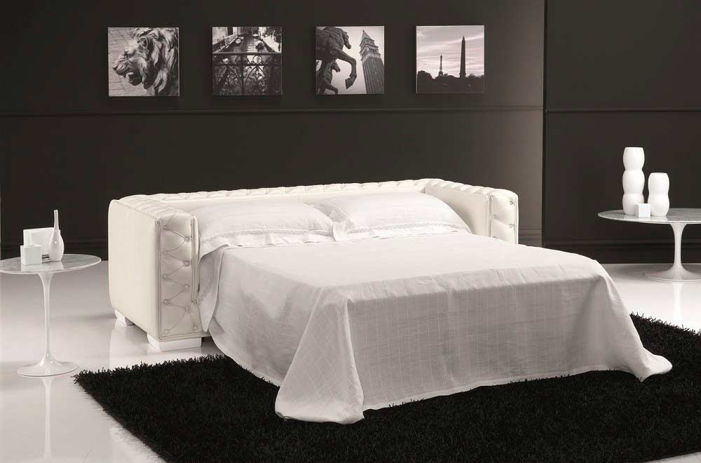 Taupe Leather Sofa Sleeper NJ Rush | Sofa Beds