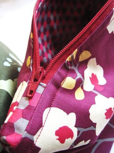 Joel Dewberry make up bags (maroon)