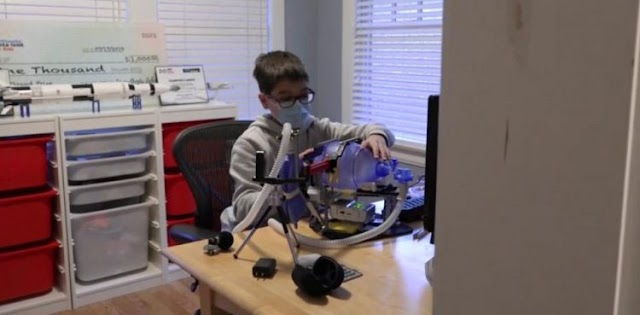 WATCH: 12-year-old boy creates ventilator out of lego pieces