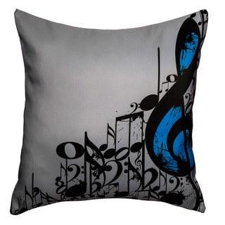 Maxwell Dickson Music Notes Throw Pillow | Overstock.com Shopping