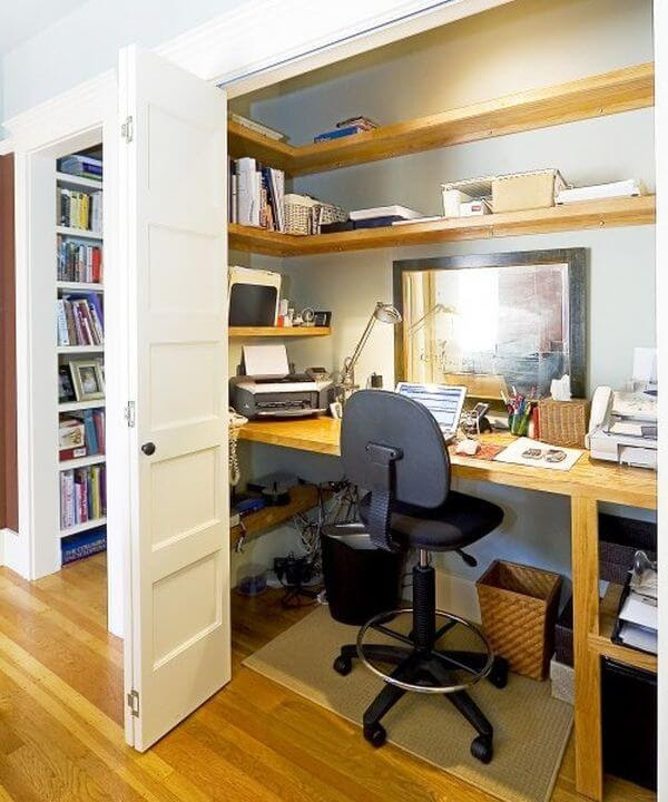 Home Office in a Closet mod