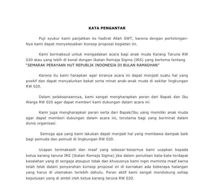 Contoh Proposal Maulid Nabi