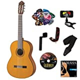 Yamaha CG142C Classical Guitar BUNDLE w/ Legacy Accessory Kit (Tuner, DVD, Picks, Capo and More)