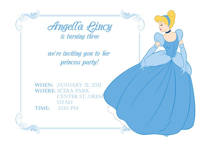 Cinderella Printable Birthday Invitation Template