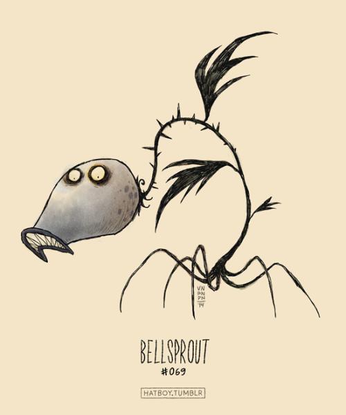 Bellsprout #069 Part ofThe Tim Burton x PKMN ProjectBy Vaughn Pinpin