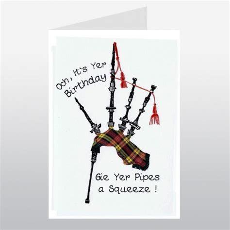 Happy Birthday Bagpipes   Scottish Birthday Card