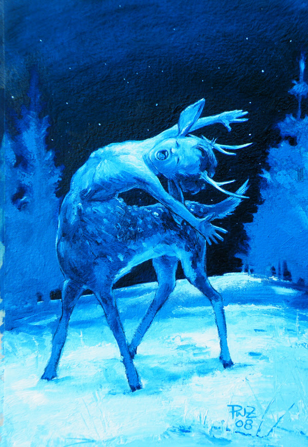 zdepski's refined version of the yawn faun for the holiday card