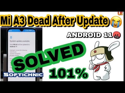 Xiaomi Mi A3 Dead Recovery After Update Android 11 | Mi A3 Dead Fix Firmware 100% Working By softichnic