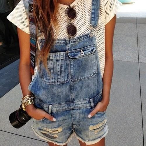 Late in the Day. #trend #washeddenim #overalls
