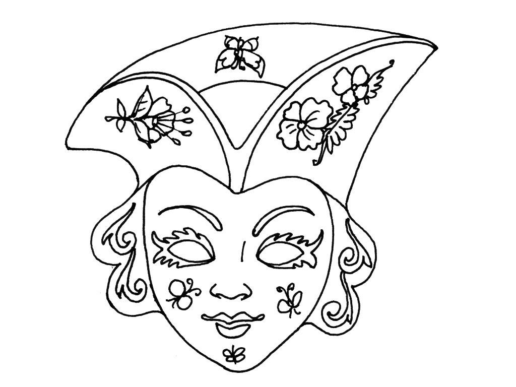 Coloriage Masque Venitien Imprimer Pour Les Enfants Coloriage