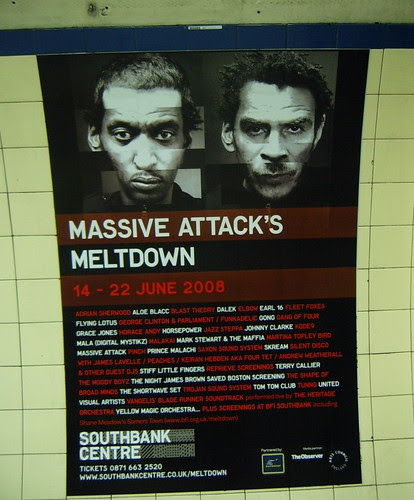 Massive Attack Meltdown poster on Tube