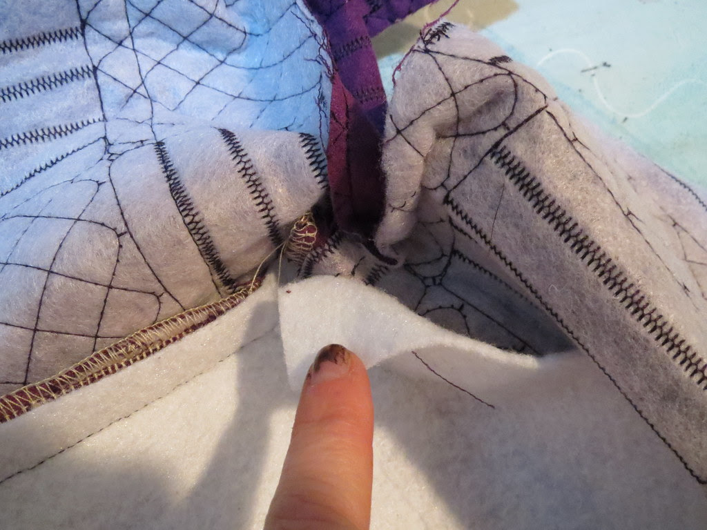 Turn Corner on Fabric only, Not Catching Fusible Fleece