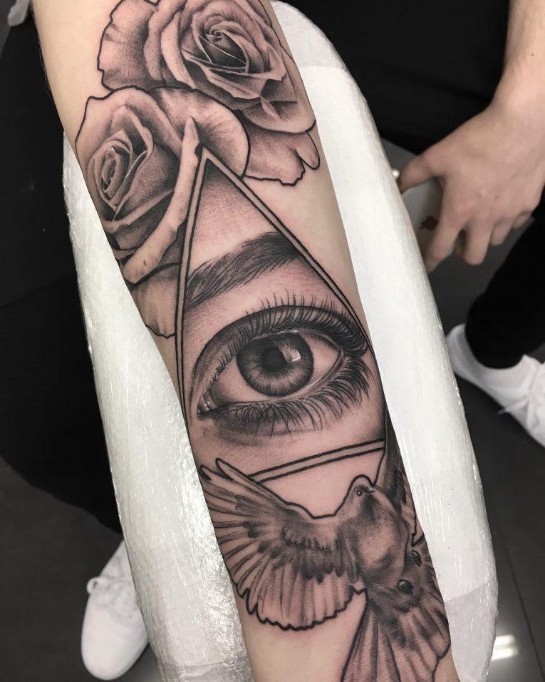 60 Greatest All Seeing Eye Tattoo Ideas A Mystery On Skin