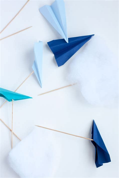 Paper Airplane Cake Toppers   Paint the Gown Red