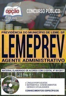 Apostila Concurso LEMEPREV 2018 | AGENTE ADMINISTRATIVO