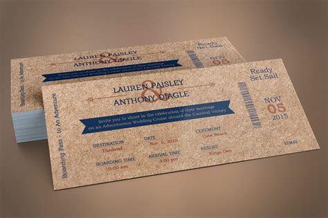 Cardboard Boarding Pass Invitation ~ Wedding Templates