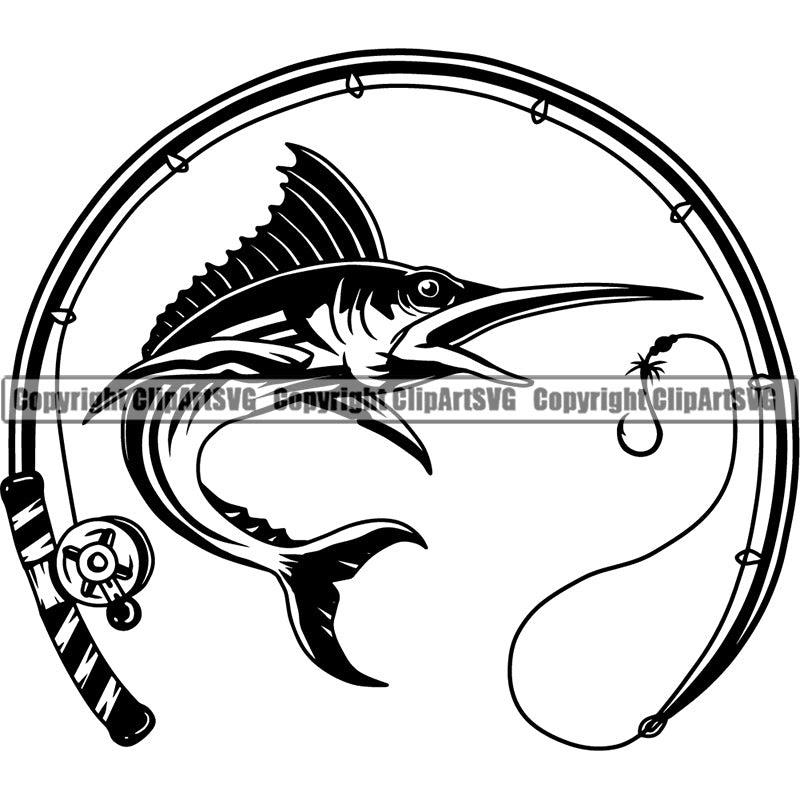 Download Sports Game Fishing Hunting Fish Hunt Fish Marlin Clipart Svg Clipart Svg