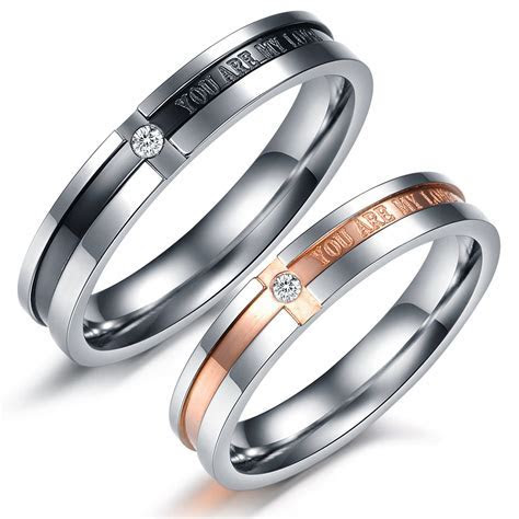 Simple bu elegant couples rings :) Matching Couple