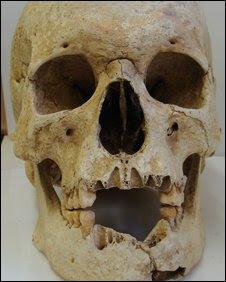 Goth warrior skull