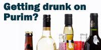 getting drunk on purim