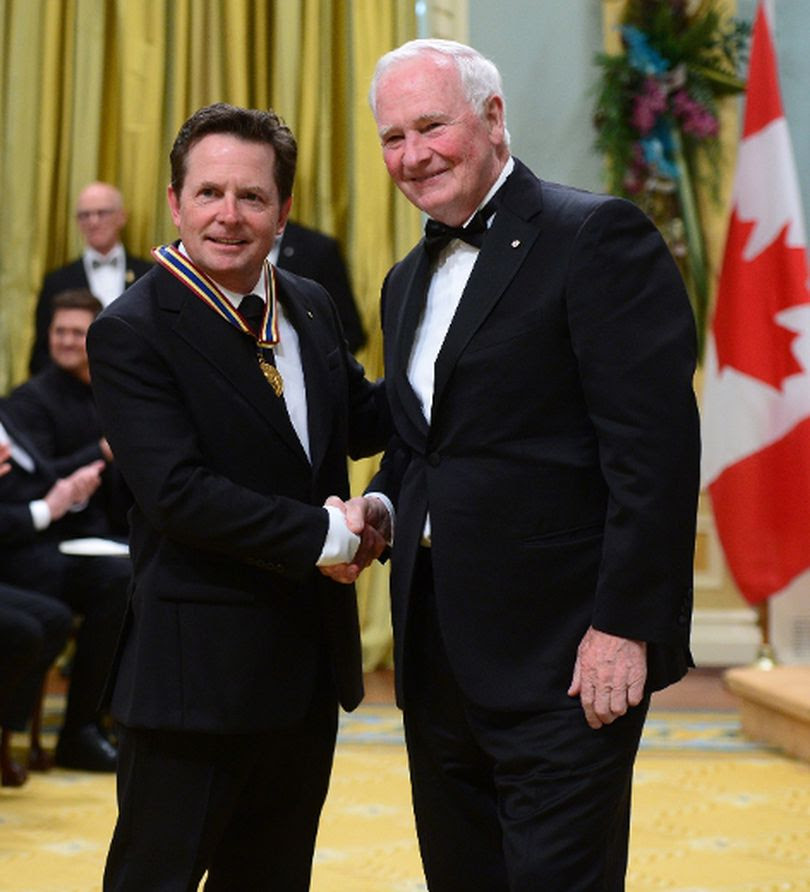 Image result for Michael J fox getting canadian laureate award ceremony