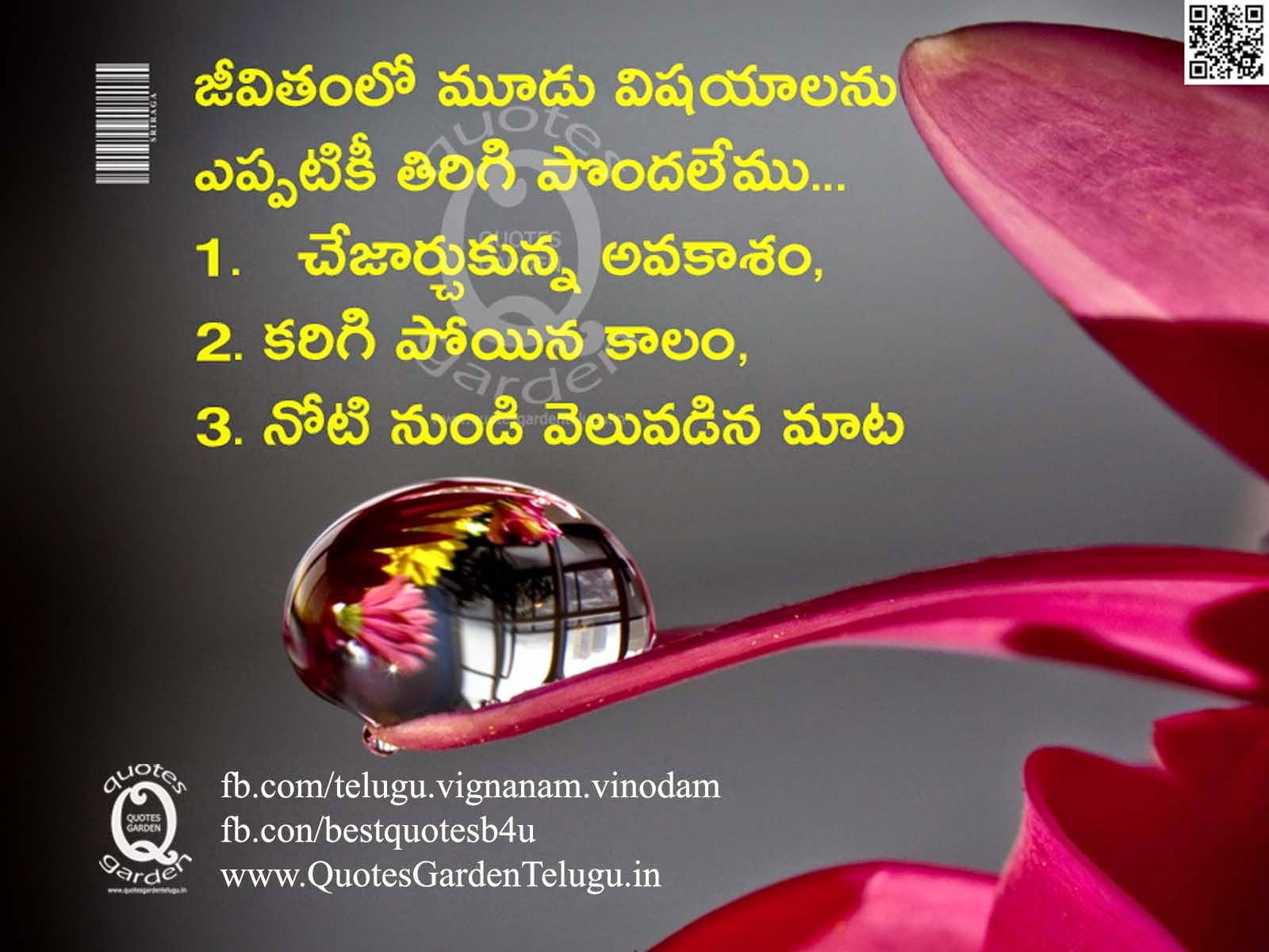 Beautiful Telugu Best Inspirational Life Quotes With Best Images And