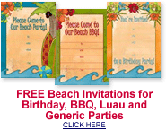 free beach party invitations