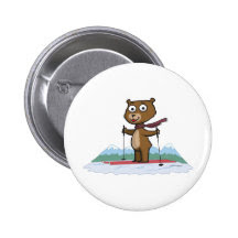 Country Bear Buttons and Country Bear Pins