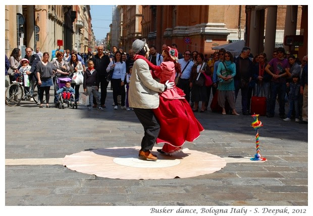 Busker with two bodies, Bologna, Italy - S. Deepak, 2012
