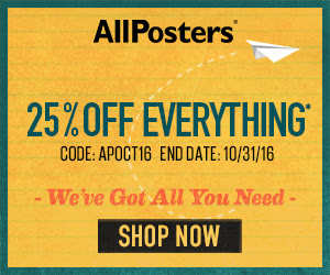 Save 25% on all orders of posters, art, photography and more at AllPosters.com! Use promo code: SUMM