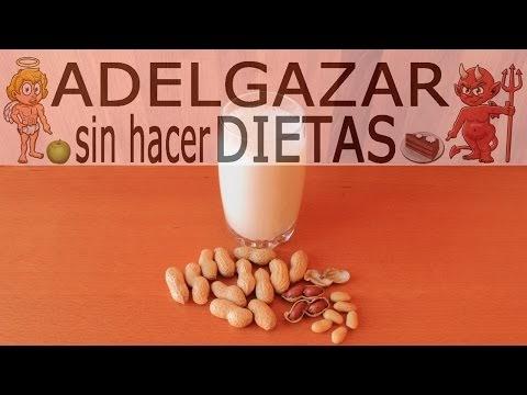 Leche de cacahuetes o man adelgazar sin hacer dietas - Cocina facil manises ...